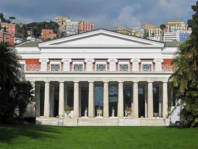 Michetti a Villa Pignatelli